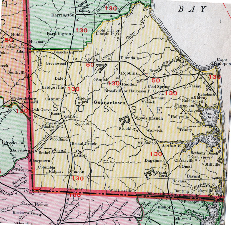 Sus County, Delaware, 1911, Map, Rand McNally, Georgetown ... on flushing meadows corona park map, hampshire map, worcester county map, norfolk map, new castle map, newport map, salisbury map, spencerport map, portsmouth map, ward's island map, oxford map, new rochelle map, dover map, sag harbor map, island park map, cambridge map, islandia map, garden city map, gloucester map, hastings map,