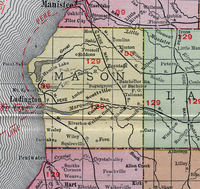 Mason County, Michigan, 1911, Map, Rand McNally, Ludington ... on map of northern michigan, map of mi on ludington michigan, map of michigan cities, map of ludington mich, map of hamlin lake ludington mi, map of eastern shoreline, map of western michigan, map of mason michigan, map of lower michigan counties, map of ludington michigan ward, map of michigan ludington state park campground, map of pentwater mi, map of ludington hotels,