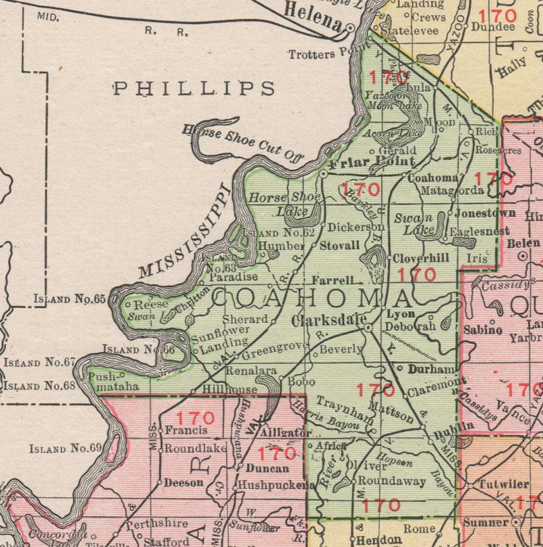 Coahoma County, Mississippi, 1911, Map, Rand McNally ... on gulf shores map, utah map, south carolina map, alabama map, new york map, montana map, tennessee map, kansas map, ohio map, new jersey map, kentucky map, north carolina map, georgia map, oklahoma map, michigan map, batesville ms map, louisiana map, arizona map, usa map, florida map, california map, nevada map, indiana map, pennsylvania map, missouri map, texas map, state map, wisconsin map, maryland map, nebraska map, arkansas map, minnesota map,