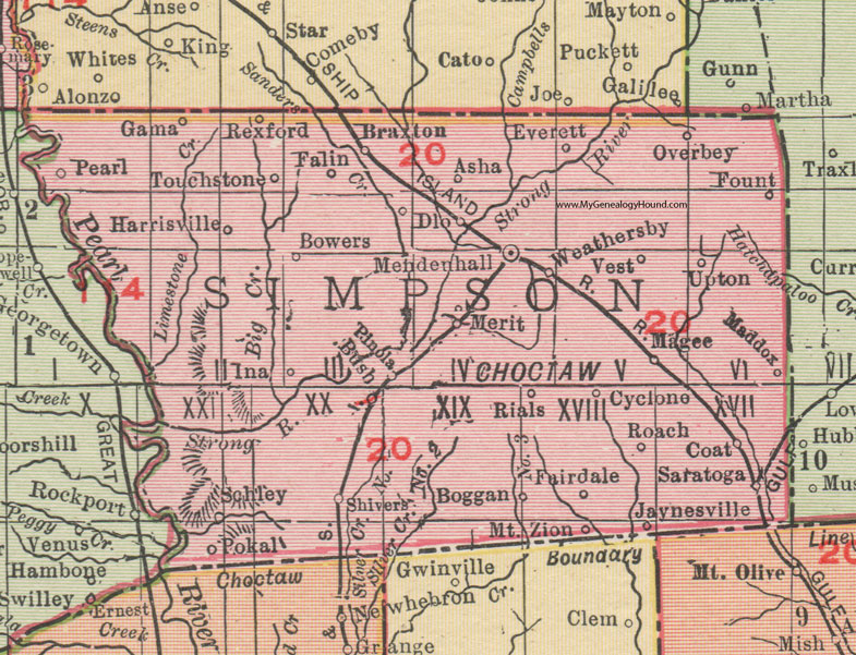 Simpson County, Mississippi, 1911, Map, Rand McNally ... on louisiana's map, maryland's map, kentucky's map, maine's map, oklahoma's map, mississippi regions map, ms road map, georgia's map, michigan's map, indiana's map, missouri's map, new mexico's map, mississippi county map, mississippi state map, new jersey's map,