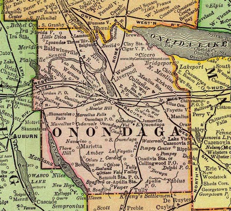 onondaga county new york 1897 map