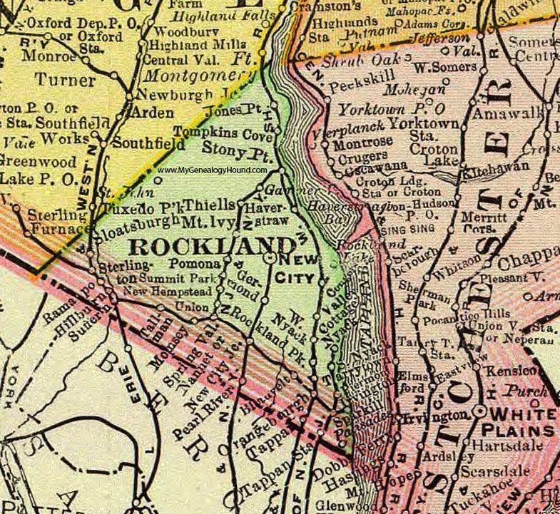 Rockland County New York 1897 Map By Rand Mcnally New