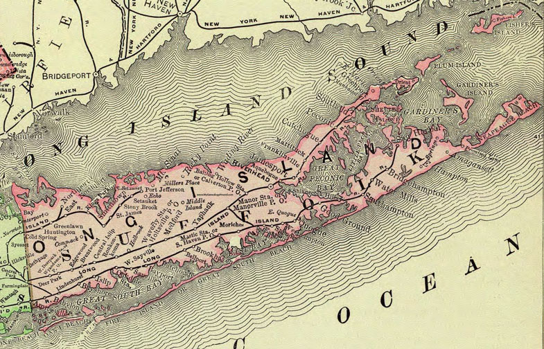Suffolk County New York Map.Suffolk County New York 1897 Map By Rand Mcnally Huntington