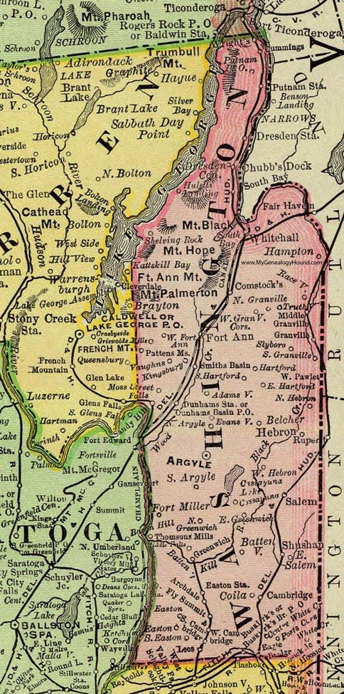 Salem New York Map.Washington County New York 1897 Map By Rand Mcnally Granville