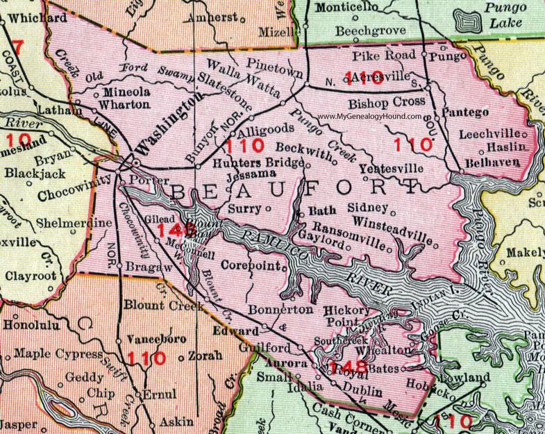 North carolina map hickory nc