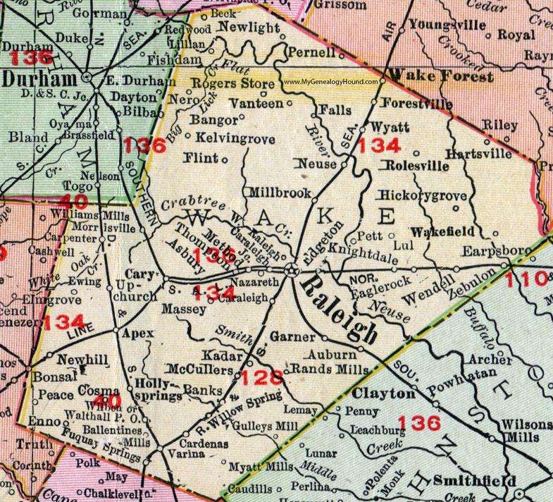 Wake county north carolina 1911 map rand mcnally raleigh wake wake county north carolina 1911 map publicscrutiny Gallery