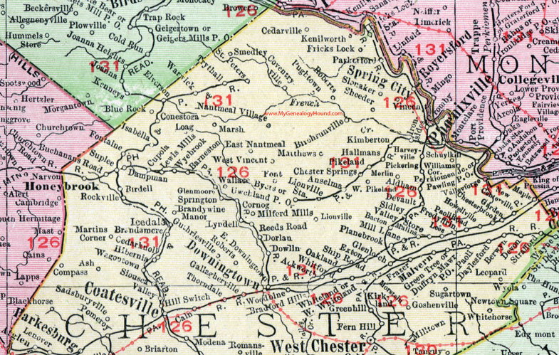 Chester County Pennsylvania Map By Rand McNally Coatesville - Pa road map