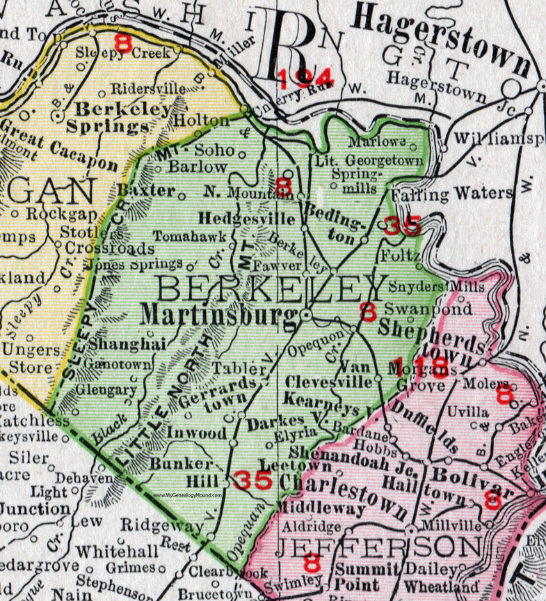 Berkeley County West Virginia Map By Rand McNally - Maps of wv