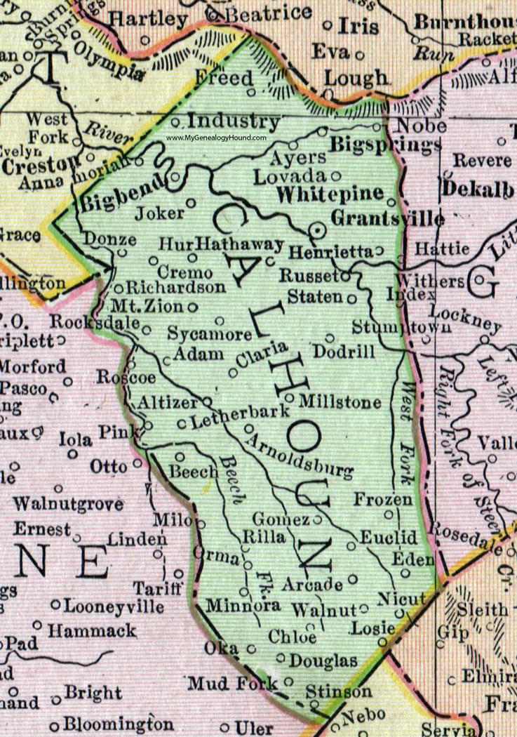 Calhoun County West Virginia Map By Rand McNally - Map wv