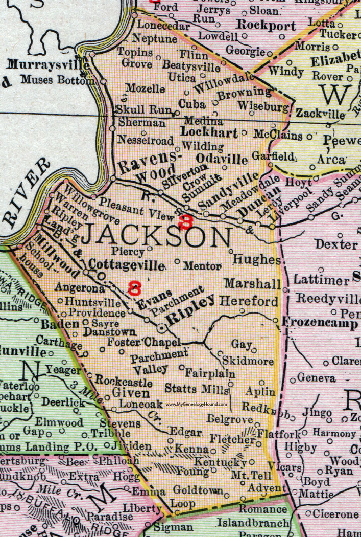 Jackson County West Virginia Map By Rand McNally Ripley - Map of wv