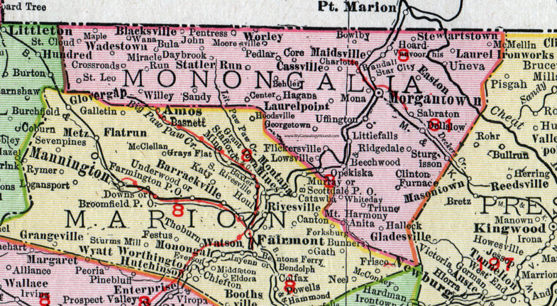 Monongalia County West Virginia Map By Rand McNally - Wv map with cities and counties