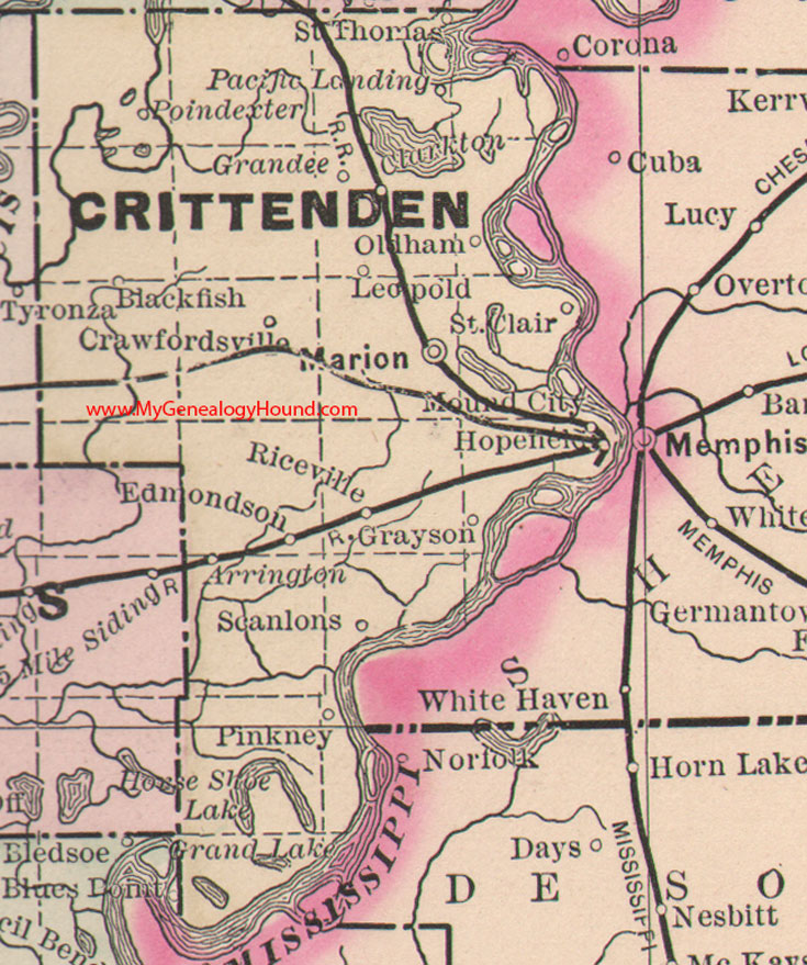 Crittenden County Arkansas Map - Arkansas county map