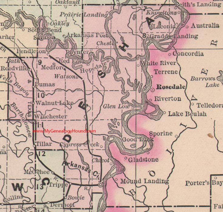 Desha County Arkansas Map - State of arkansas county map
