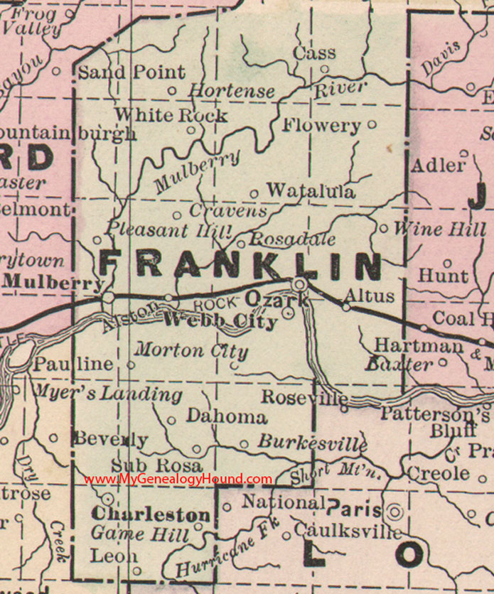Franklin County Arkansas Map - Arkansas county map