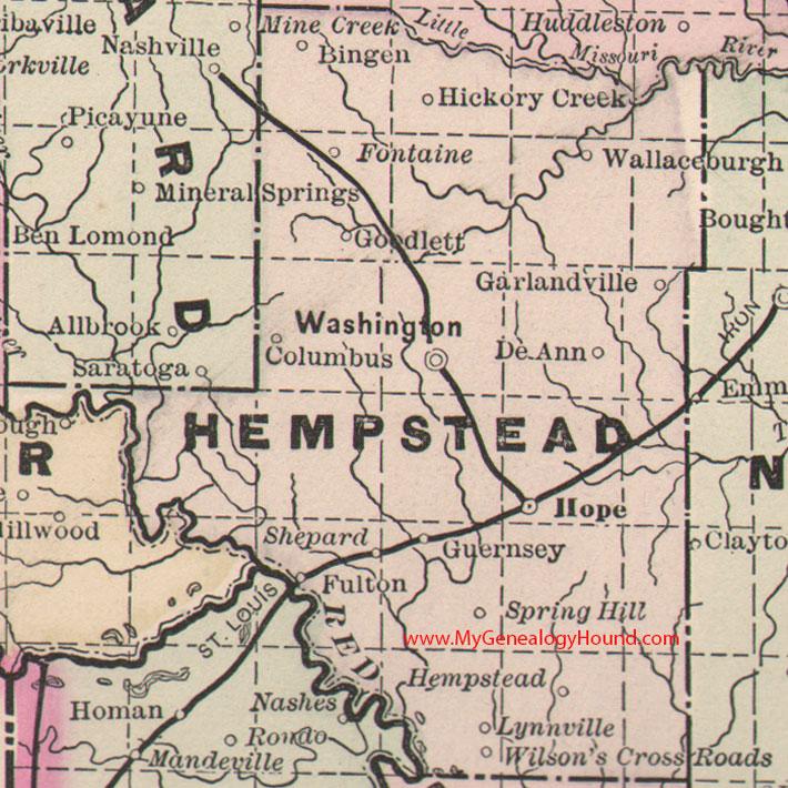 Hempstead County Arkansas Map - Arkansas maps