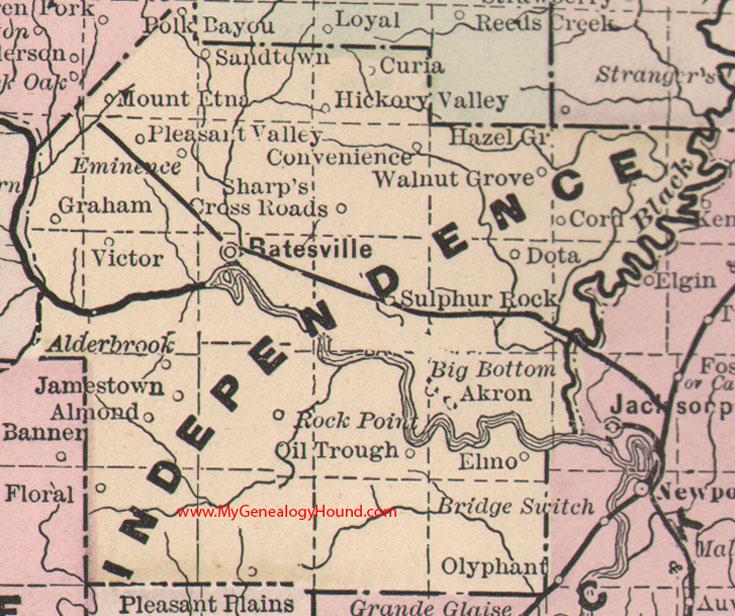 Independence County Arkansas Map - Arkansas county map