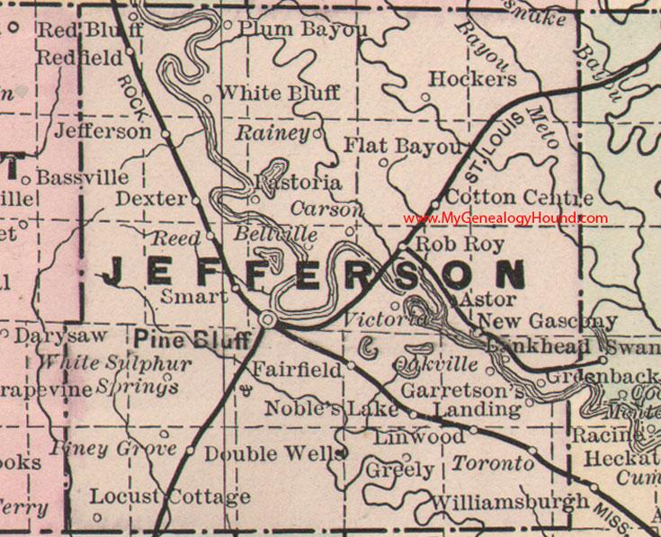 Jefferson County Arkansas Map - Arkansas county map