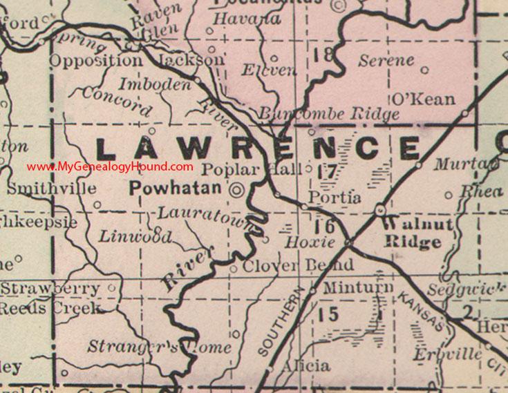 Lawrence County Arkansas Map - Arkansas map