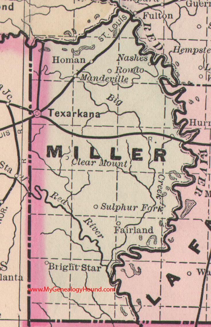 Miller County Arkansas Map - Ar map