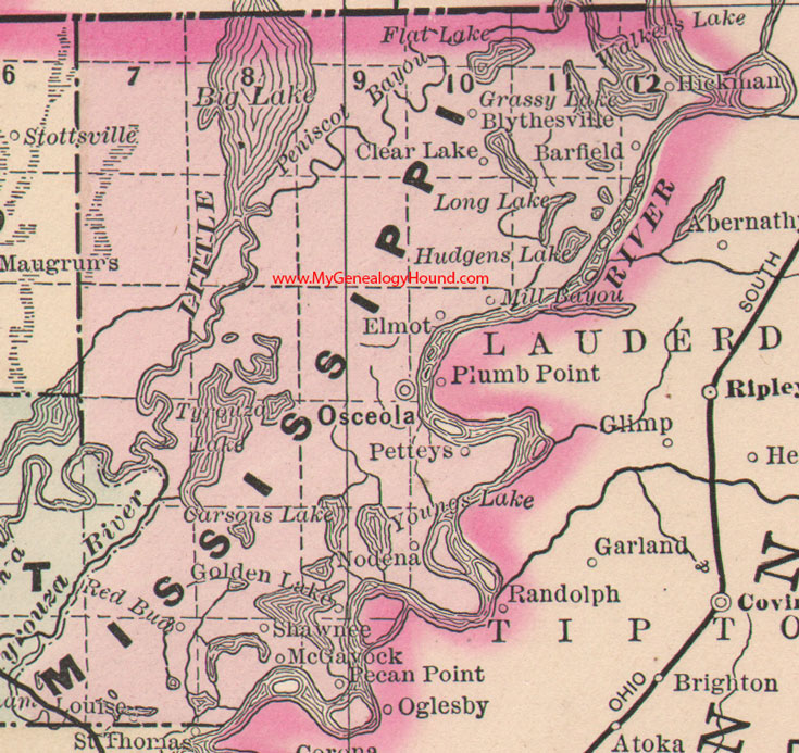 Mississippi County Map Images