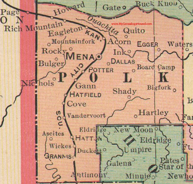 Polk County Arkansas Map - Ar map