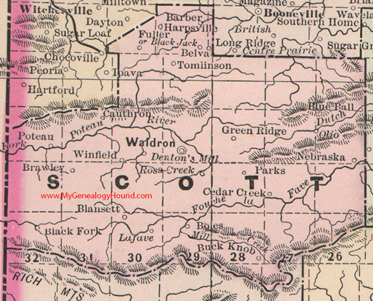 Scott County Arkansas Map - Arkansas county map