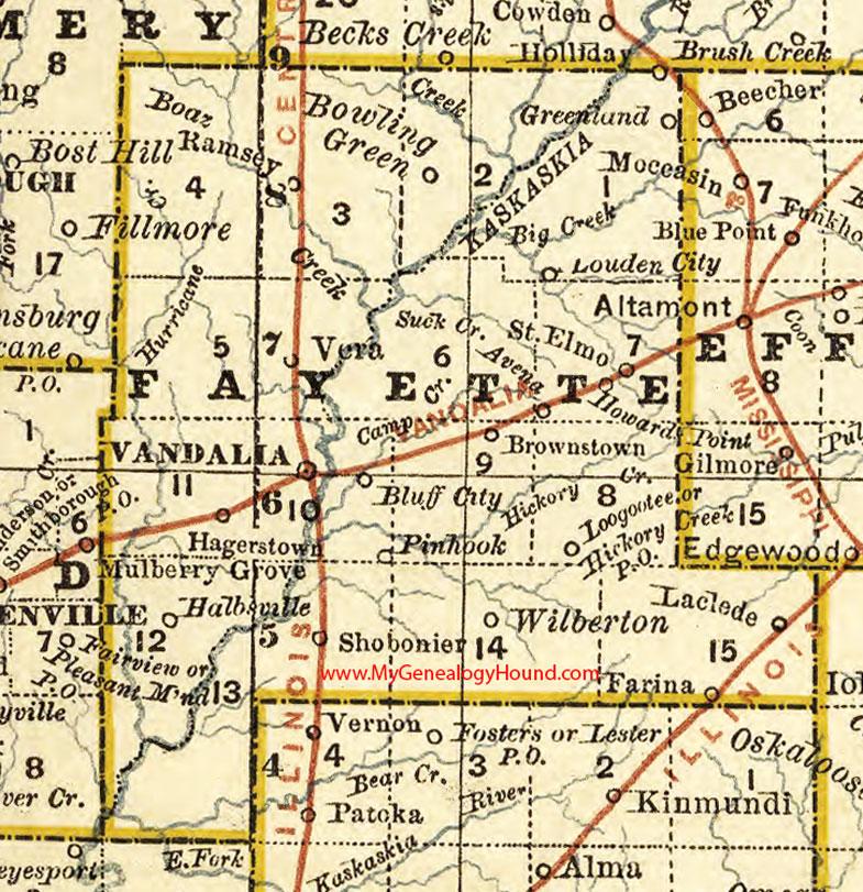 Fayette County Illinois Map Vandalia - Illinois maps