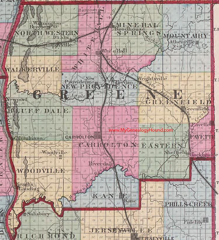 Greene County, Illinois 1870 Map on map of lake county il, map of gallatin county il, map of henderson county il, map of st. clair county il, map of rock island county il, map of jo daviess county il, map of franklin county il, map of jersey county il, map of union county il, map of dupage county il, map of jasper county il, map of mcdonough county il, map of stephenson county il, map of cook county il, towns in kane county il, map of schuyler county il, map of woodford county il, map of richland county il, map of bond county il, map of stark county il,
