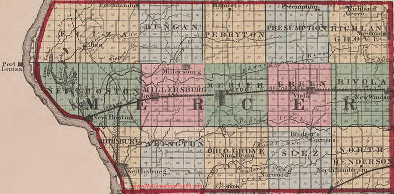 Mercer county illinois 1870 map aledo mercer county illinois 1870 map gumiabroncs Gallery