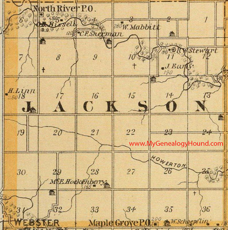 Jackson County Iowa Map.Jackson Township Madison County Iowa 1875 Map