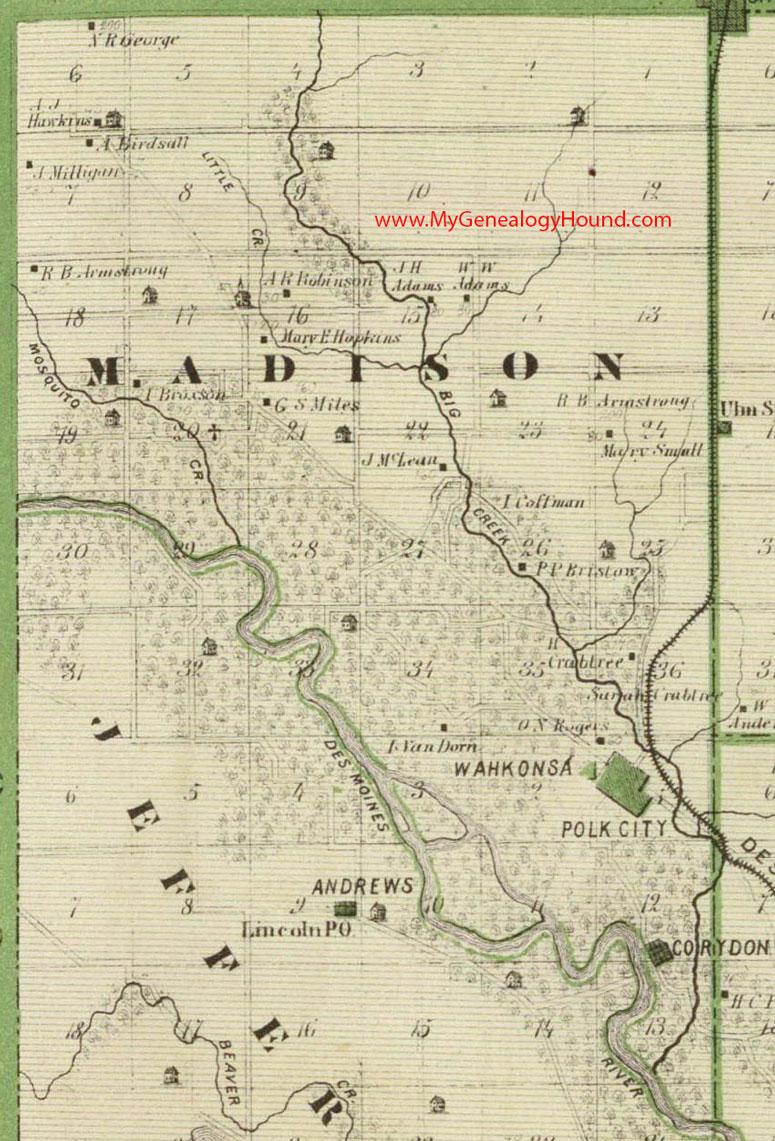 Madison Township Polk County Iowa Map - Polk us map