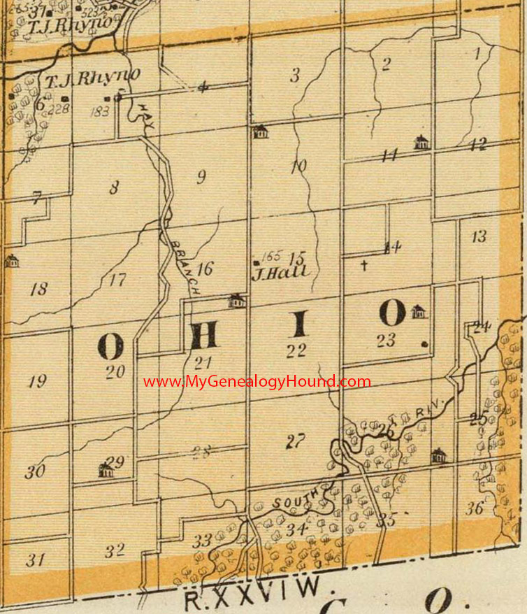 map of madison county iowa Ohio Township Madison County Iowa 1875 Map map of madison county iowa