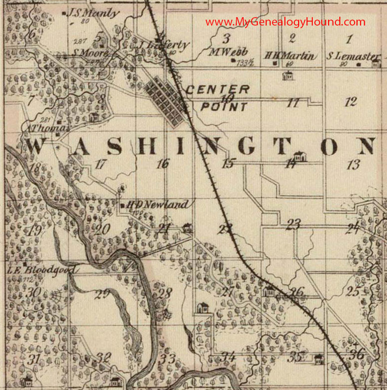Washington County Iowa Map.Washington Township Linn County Iowa 1875 Map