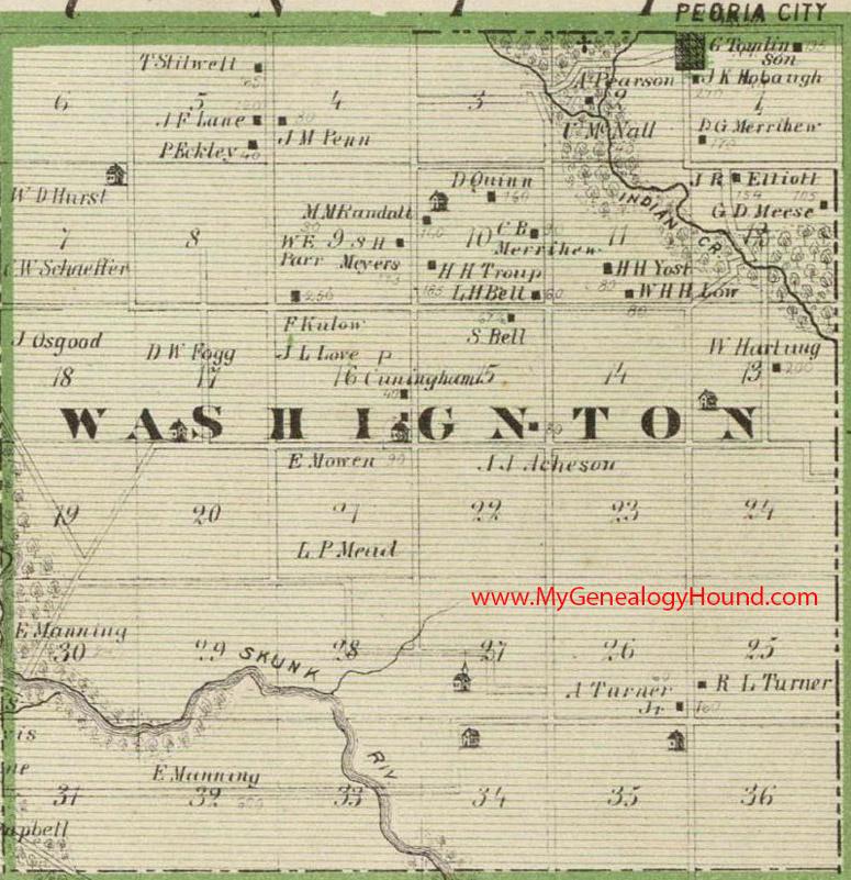 Washington County Iowa Map.Washington Township Polk County Iowa 1875 Map
