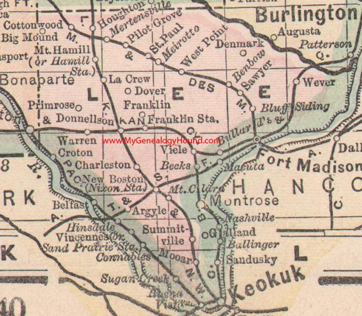 Lee County Iowa Map - Iowa maps