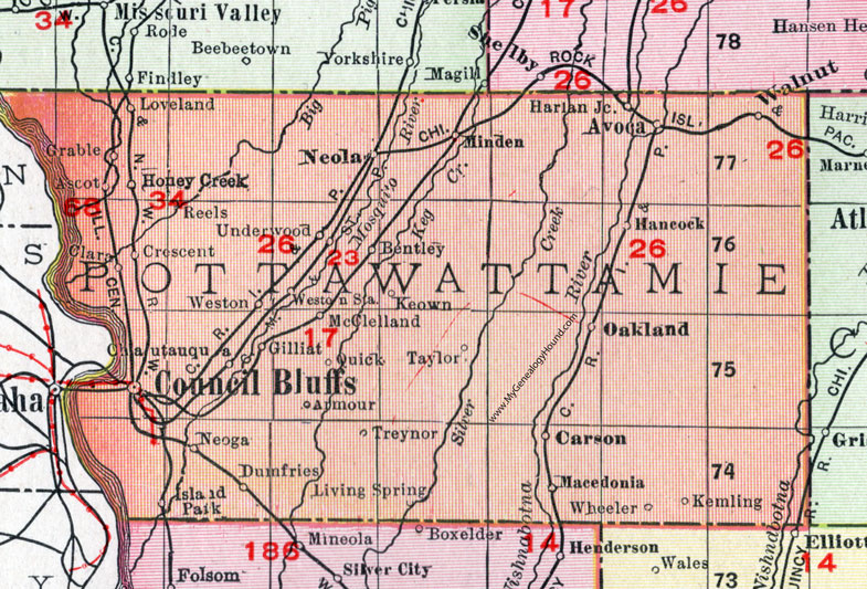 Pottawattamie County, Iowa, 1911, Map, Council Bluffs, Avoca ... on illinois map, ky map, usa map, interactive web map, md map, wy map, ok map, id map, ut map, nv map, mo map, davenport map, nationwide map, ga map, isot map, co map, ks map, ne map, mt map, ar map,