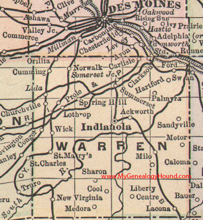 Warren County Iowa Map - Iowa maps