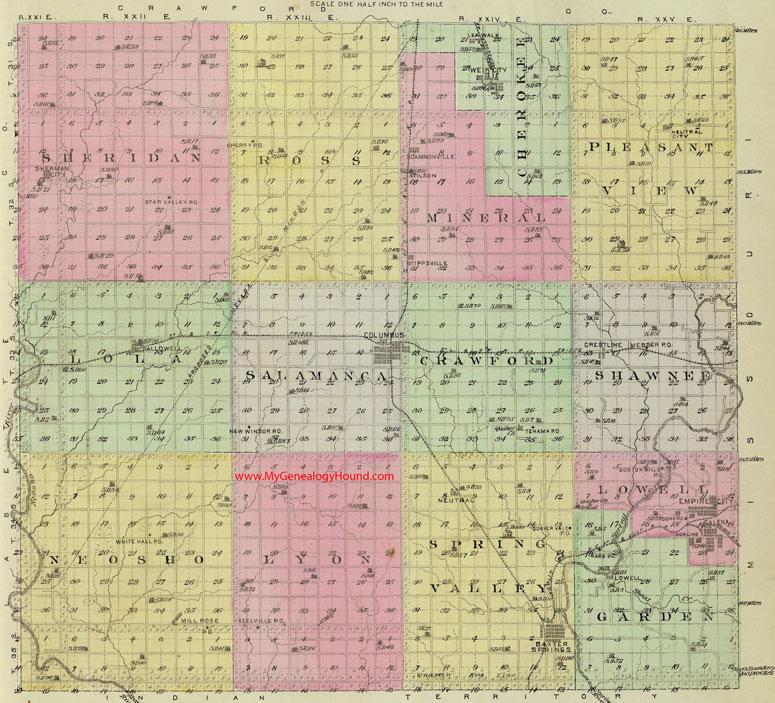 Cherokee County Kansas Map - Kansas map