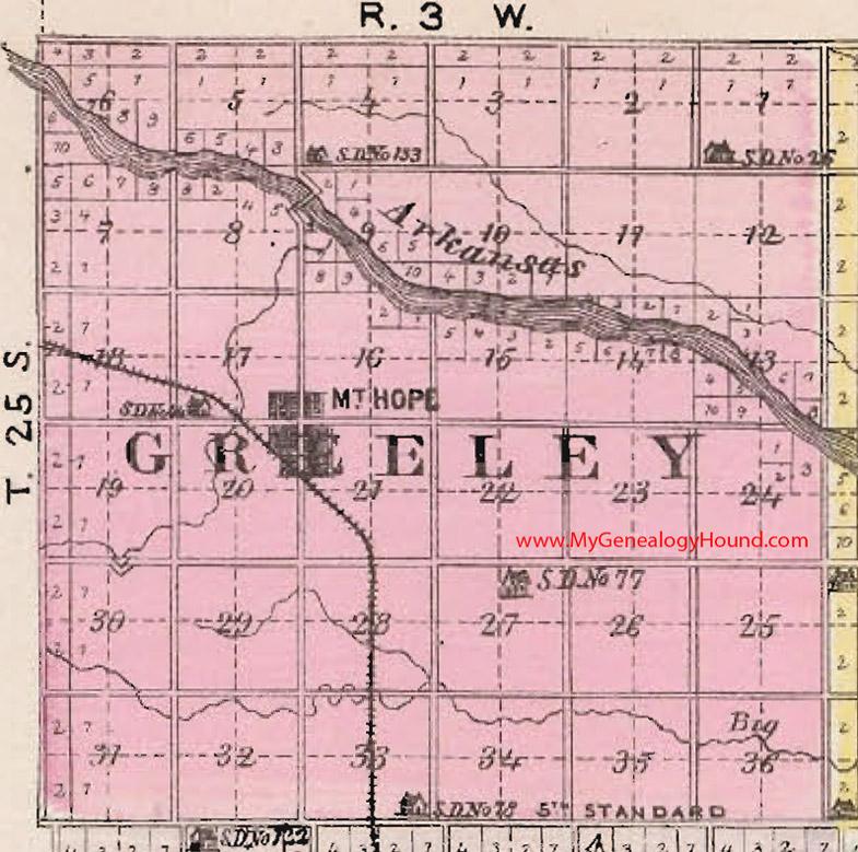 Greeley Township Sedgwick County Kansas 1887 Map