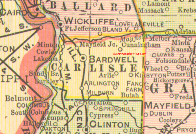 Carlisle County Kentucky 1905 Map