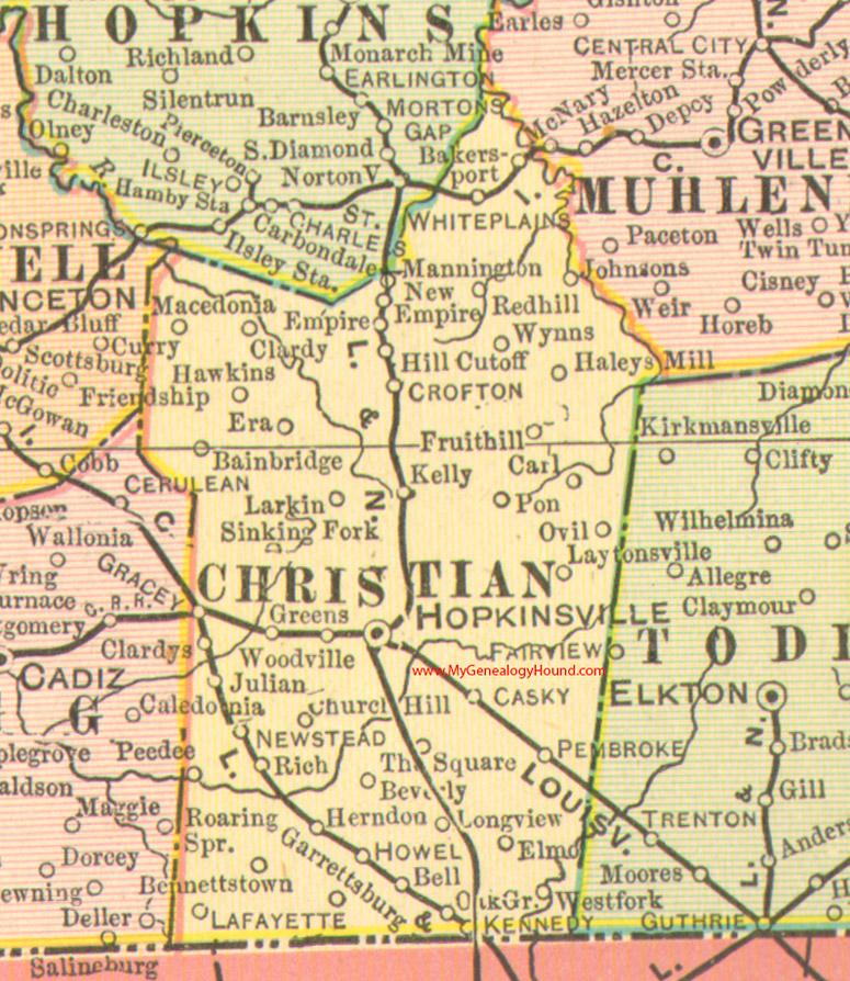 Christian County Kentucky Map Hopkinsville - Ky maps