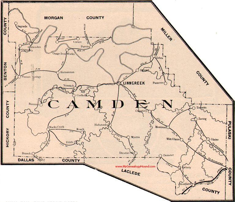 Camden County Missouri 1904 Map