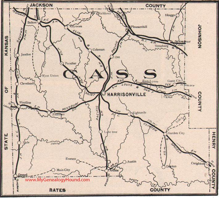 Cass County, Missouri 1904 Map