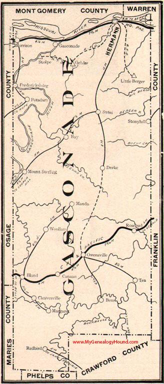 gasconade county  missouri 1904 map