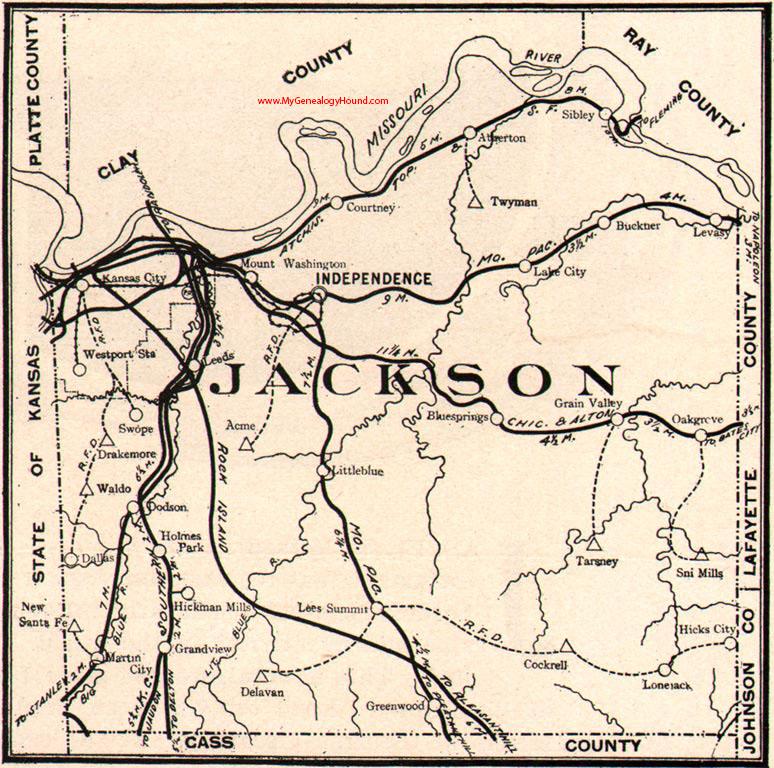 Jackson County Missouri 1904 Map Independence Kansas City Lees