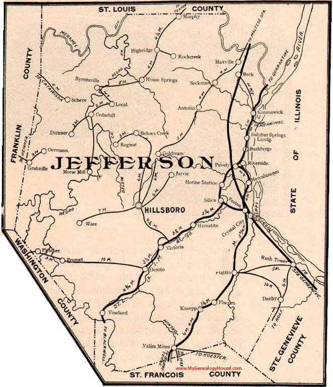 Jefferson County, Missouri 1904 Map