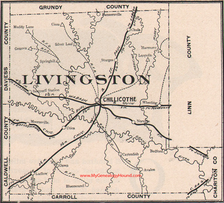 Livingston County Missouri 1904 Map