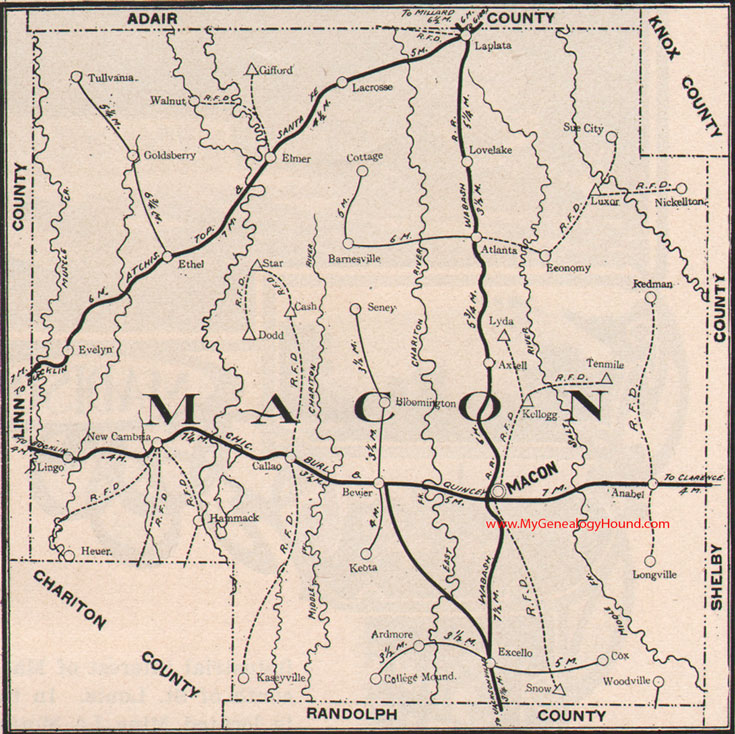 Macon County Missouri 1904 Map