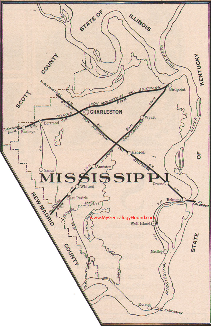 Mississippi County Missouri Map - Mississippi county map