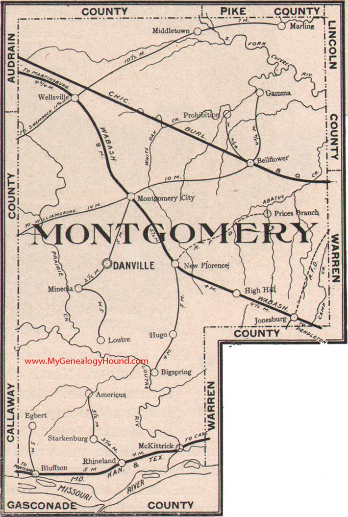 Montgomery County Missouri 1904 Map